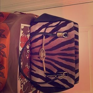 Authentic Coach Zebra print handbag